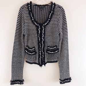 White House Black Market Cardigan Sweater Pearl M